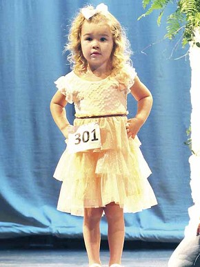 Kylee Green, age 3, from last year's pageant.