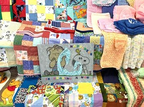 Lemon Bay Women's Club Linus Project: blankets for newborns.